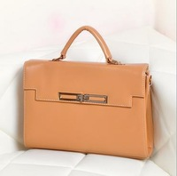 Spring 2014 new handbag Korean candy-colored retro Mobile Messenger bag lock bag messenger bags +Free shipping !!!