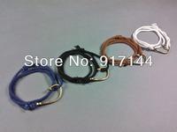 2014 New Unique 4 Colors Adjustable Cotton Rope Bronze Fish Hook Handmade Bracelets Jewelry 20PCS/Lot Free Shipping