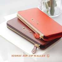 new 2014 fashion Women Wallets ,long design Purse ,zip up candy wallet free shipping