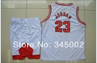 Chicago #23 Michael Jordan Kids/youth white Basketball Jerseys with shorts,2014 baby/boys/children basketballer uniform Kits