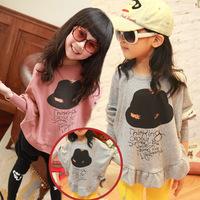 Female baby Chunqiu version of the bat sleeve coat girls children David clothing kids Sweatshirts