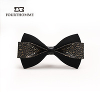 free shipping Fourthomme high quality luxury elegant royal inlaying male fashion bow tie male bow tie