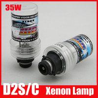 FREE SHIPPING 35W D2S Xenon HID Bulb Globe 3000k 4300k 6000k 8000k 10000k 12000k HID Lamp with Metal Base High Quality