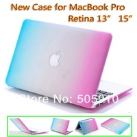 "Rainbow Rubberized hard case cover For New Macbook Pro 13 13.3"" Retina display  MODEL A1425 & A1502 FREE SHIPPING"