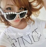 Wholesale and Retail new fashion summer sunglasses pearl design star design beach travel accessories in seabeach 1pc