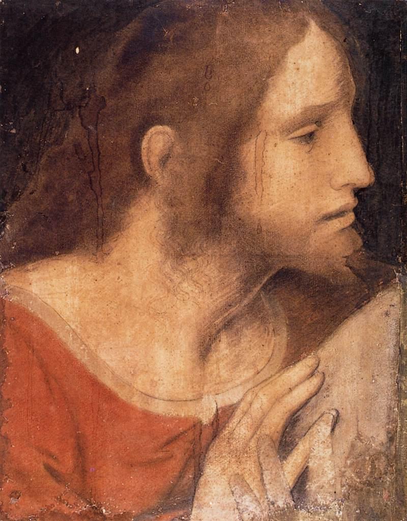 Head of St James the Less, Leonardo Da Vinci Painting Reproduction(China (Mainland))