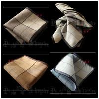 Handkerchief 100% male cotton handkerchief women's gift time slanting stripe casual handkerchief vintage fashion !