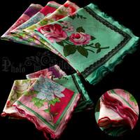 free shipping Handkerchief squareinto dual women's ruffle handkerchief 100% cotton handkerchief