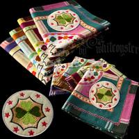 free shipping Handkerchief women's fogle applique embroidery four leaf clover 100% cotton handkerchief 100% cotton