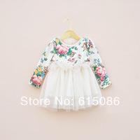 new 2014 Girls party dress,Girls floral dress,Baby clothes,baby dress,kids dress,5pcs/lot!!