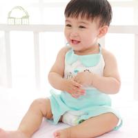 Cotton baby 100% bellyached cotton belt newborn burp cloth infant clothes