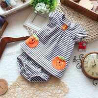 Baby puff sleeve skirt set dresses t-shirt top skirt shorts set summer dresses
