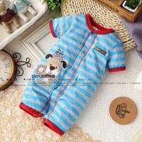 Baby romper newborn child summer jumpsuit sleepwear 100% cotton male child clothes baby romper