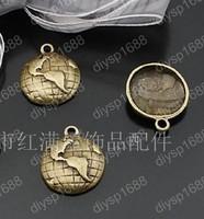 50pcs/lot Zinc alloy bead Antique Bronze Plated 15MM world map Charms Pendants Fit Jewelry Making DIY JHA1993