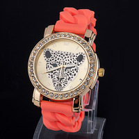 In the spring of 2014 the new Colorful fashion silicone leopard head watch Twist with diamond dial  ZC2075