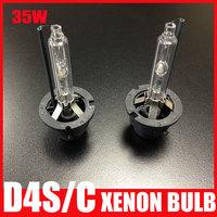 Free Shipping High Quality Metal Base 35W D4 D4S hid Xenon lamp bulb 3000k 4300k 6000k 8000k 12000k Spares Bulb for Kit