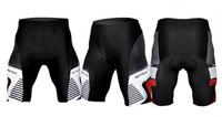 Men's cycling sport shorts Cool pad Breathable Material Cycling 1/2 Pants(Black)
