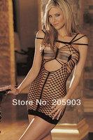 Free Shipping Triple Lustful Net Chemise Dress Dress Wholesale 12pcs/lot Women's 2014 Newest lingerie Sexy Nightwear 21155