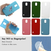 fingerprint-proof Matt Frosted Back Hard Skin Cover Case for Samsung Galaxy S5 SV i9600 Free Shipping