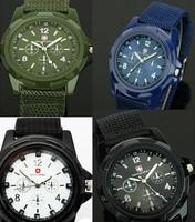 50pcs/lot HOT sale Luxury Analog new fashion TRENDY SPORT MILITARY STYLE WRIST WATCH for MEN SWISS ARMY quartz watch,BLACK/WHITE