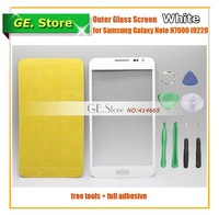 5 Pcs/Lot White Color Digitizer Touch Outer Glass Lens Screen For Samsung Galaxy Note i9220 N7000 Replacement+Tools+Adhesive
