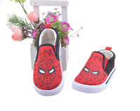 2014 Fashion Spider-Man Children Baby  Shoes Kids Cartoon Canvas Shoes, Baby Shoes Flats 1Pair Free Shipping TXB-056