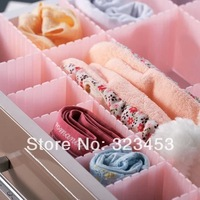 Free Shipping Good FreeDom Assembled  DIY combination Flexible Plastic Storage Box Desk Sunbdry Storage Organizer 4 colors