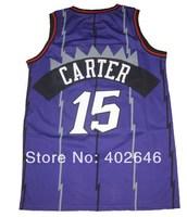 Wholesale basketball jerseys, Toronto #15 Vince Carter purple jerseys, pls read size chart before order