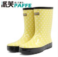 2014 free shipping women's fashion flat heel rain shoes rain boots   rainboots water shoes
