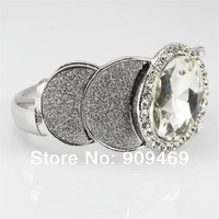 Hot  Alloy White Black Point  Big Crystal With Rhinestone Bangles Bracelet , BB31204