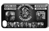 2014 Hot cases! white Sons of anarchy Case  for iPhone 4 4s  1pcs/lots +free shipping