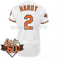 Wholesale Men's Baltimore Orioles Jersey #2 J.J. Hardy White Cool Base Baseball Jersey 100% Stitched,Mix Orders