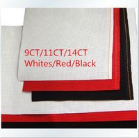 Worldfamous   150X50cm Cross Stitch Fabric    White/Black/Red   Aida Cloth   14CT/11CT/9CT       Free Shipping