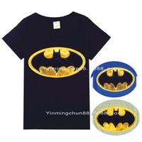 Batman childrens t shirts sumemr boys cool tee shirt new style blue black 2-7yrs kids babies tops cotton 915