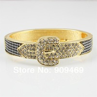 2014 Fashion Design Gold Plated With Rhinestone Bangles In Cheap Special Store,BB31210