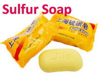 Promotion 2pcs/Lot Chinese Famous Brand Shanghai Sulfur Soap Anti  Acne/Fungus/Body Odor/Inhibit Skin Oils