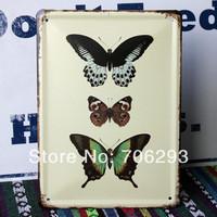 [Lucky Zakka] butterfly metal tin signs Art wall decor House Cafe Restaurant Bar Metal Paintings 15x21cm TPH14032901