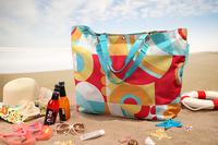 Derlook ! multicolour geometry big capacity beach bag shopping bag car bag