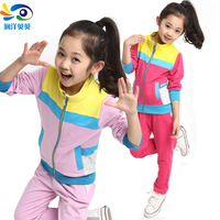 Children's clothing spring and autumn child sportswear twinset casual female child set student set