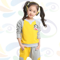 Children's clothing spring and autumn child set spring and autumn sports set casual clothing