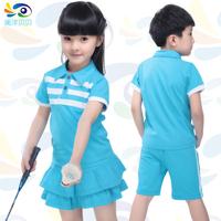 Children's clothing male female child summer short-sleeve shorts student set twinset