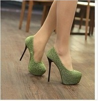 2012 women's spring shoes smarten thin heels built-in ultra high heels shoes platform shoes