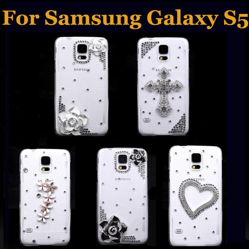 New Fashion PC Hard Back Case Protective Shell Bling Diamond Rhinestone Crystal Cover for Samsung Galaxy S5 i9600(China (Mainland))