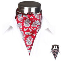 Autumn new arrival silk print male cravat silk scarf gift