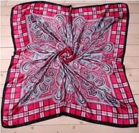 2014 New Brand 90 x 90cm  100% polyester imitation satin silk newest brand design fashion scarf  fashion women summer spring
