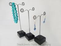 3Pcs/Set Jewelry Display Earring Holder Black Arcylic Earring Stand Mental Rack  Frame