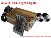 32W led light engine in 90-265V input with 1000strands 0.75mm 2Meters sparkle optic fiber
