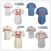 Free Shipping Cheap Custom Philadelphia Phillies #00 Blank Personalized/Customized Cool Base Jerseys,Embroidery Logos
