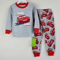 Retail free shipping 2014 100% cotton kids pajama sets car pajamas for boys children pijamas pyjama sleepwear clothing set 2Y-7Y