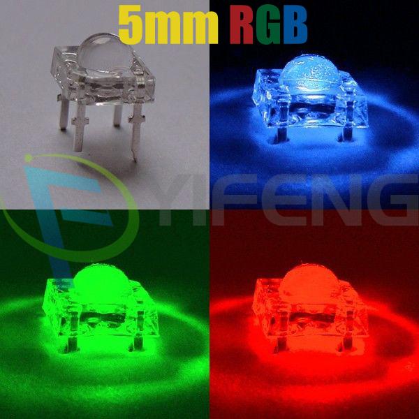 50pcs 5mm Piranha Super Flux Common Anode RGB LED(China (Mainland))
